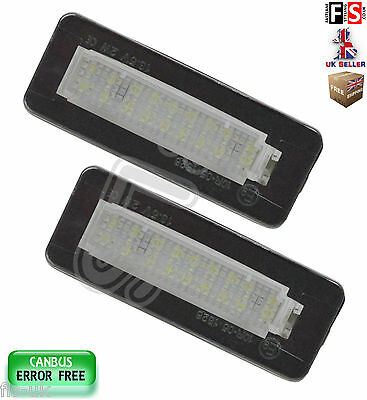 2 X Smart Number Plate Lights Smart For Two Led White 18Smd Canbus Error Free