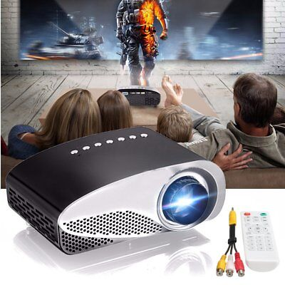 Mini Home Cinema Theater 1080P HD Multimedia LED Projector PC/USB/AV/TV/VGA/HDMI