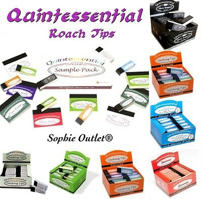 Quintessential Smoking Roach Tip Filter Rolling Tips Organic Standard Holly Slow