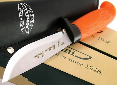Marttiini Skinner Hunter Orange Handle Knife Made in Finland