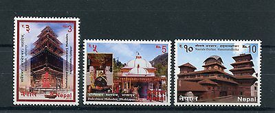 Nepal 2015 MNH Temples 3v Set Doleshwor Mahadev Architecture Buildings Stamps