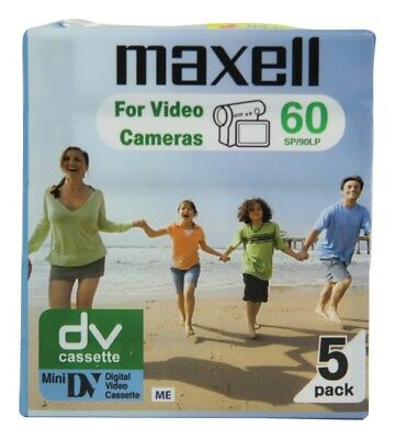 5 x Maxell DVM SP60/LP90 Camcorder Tape For Cameras - BRAND NEW