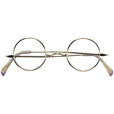 Round Wire Rim Glasses Santa Claus Ben Franklin Mark Twain Old Man Lady Costume
