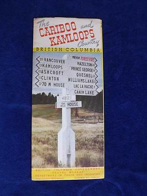 Travel Brochure The Cariboo And Kamloops Country British Columbia Map Canada