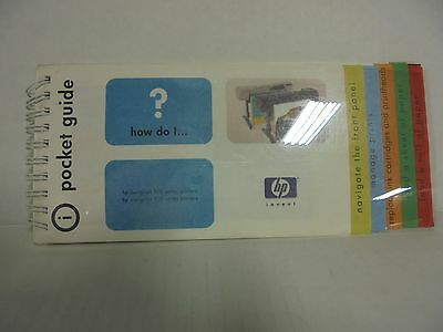 HP C7770-60015 DesignJet 500 800 POCKET GUIDE Tested 90Day Warranty