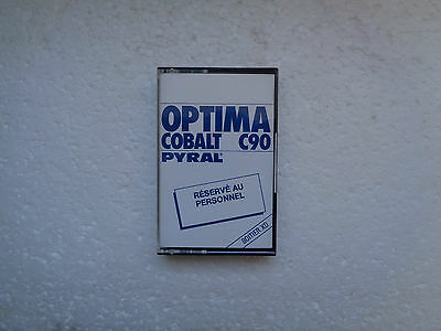 Obscur Vintage Audio Cassette PYRAL Optima C90 * Rare From France 1980's *