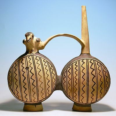 Chancay Double Whistle Vessel - Ancient Art & Antiquities