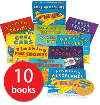 Amazing Machines Collection - 10 Books plus a CD