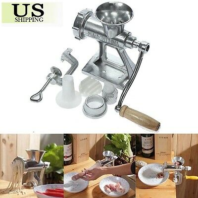 Heavy Duty Manual Meat Grinder Mincer Cast Iron Hand Operated Crank Pasta Maker