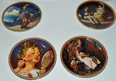 Norman Rockwell Plates, 4 Rediscovered Women Collection + bonus Rockwell Plate