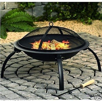 New Fire Pit Log Burner Garden Patio Heater Kingfisher