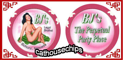 BJ's, Schurz, NV Whorehouse Cathouse Collectors Perpetual Party Place Chip