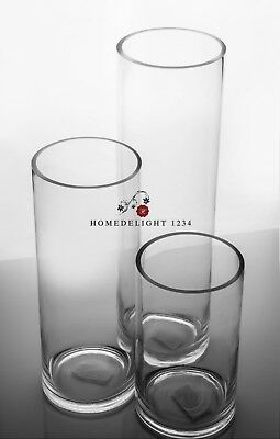 Clear Cylinder Vases For Wedding And Home Decor***on Sale **