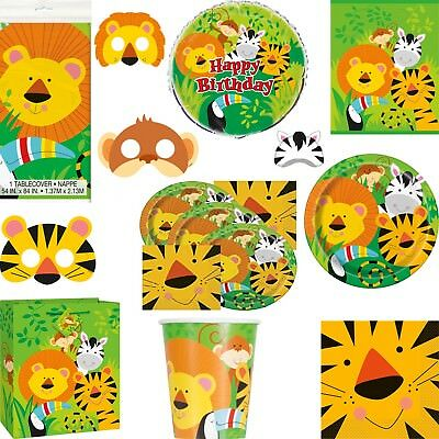 Birthday Party Animal Lion Jungle Pack Jungle Party Table Ware and Decoration