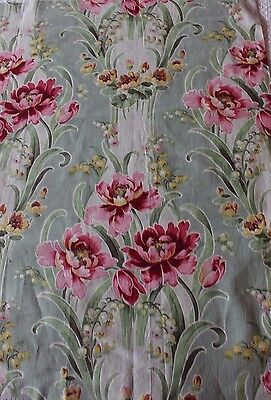 Antique French Art Nouveau c1890-1910 Unused Home Decor Fabric Textile