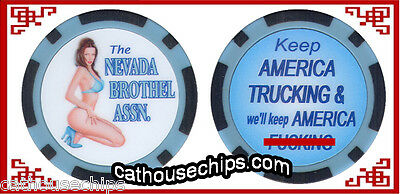 Nevada Brothel Association Collectors Chip Cathouse  Whore House