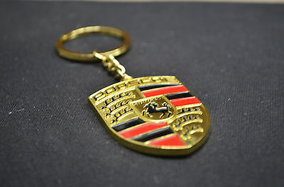 Stainless Keyring Key Ring Key Chain 911 Boxster Cayenne with Porsche Logo