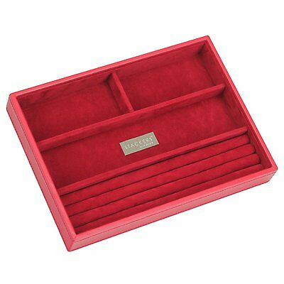 Stackers Jewellery Box Ring/Bracelet Section Red Velvet Necklace