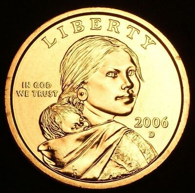 """2006 D Sacagawea Dollar US Mint Coin in """"Brilliant Uncirculated"""" Condition"""