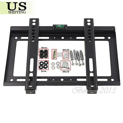 LCD LED Plasma Flat TV Wall Mount Bracket 14-42 inch 22 24 27 32 37 39 40 42 USA