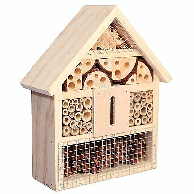 Niteangel Natural Mason Bee House Insect Hotel Animals Nesting Garden Decor New