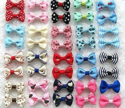 21pcs lowest price!Pet dog puppy Hair bow Bow Clip barrette  hot sell in US