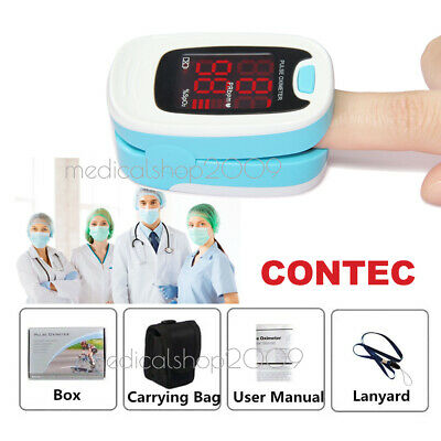 USA CMS50DL pink Fingertip Pulse oximeter Spo2 Monitor Blood Oxygen LED case