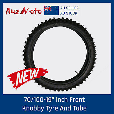 "70/100-19"" inch Front Knobby Tyre Tire + Tube PIT PRO ATomik Trail Dirt Bike"