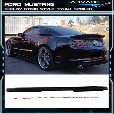 Fit 10-14 Ford Mustang Shelby GT V6 GT500 Style Trunk Spoiler Painted # UA Ebony