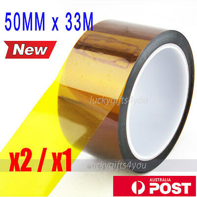 Heat Resistant Tape Kapton Polyimide For RepRap Prusa Mendel 3D Printer 50MMx33M
