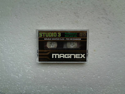 Vintage Audio Cassette MAGNEX Studio3 60 * Rare From Italy *
