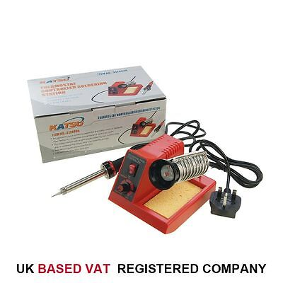 58W Variable Temperature Soldering Station Iron Kit Electronic Repair Incl 1 Tip