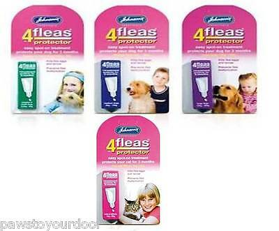 Johnsons 4Fleas Protector Spot On Kittens, Cats, Puppy, Dog Flea Treatment Drops