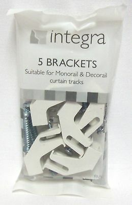 Integra Pack Of 5 Brackets For Monorail & Decorail Curtain Tracks Brackets