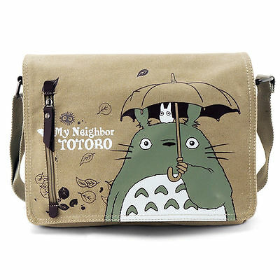 My Neighbor TOTORO Fashion Canvas Shoulder Messenger Bag School Bag Kid Gift