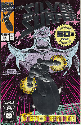 Silver Surfer No. 50 1991 Marvel (1987 series) VF/NM Thanos First Printing Foil