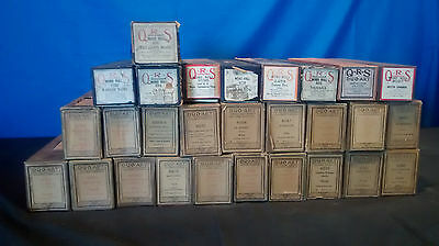 Vintage Lot of 28 Player Piano Rolls QRS & Duo-Art