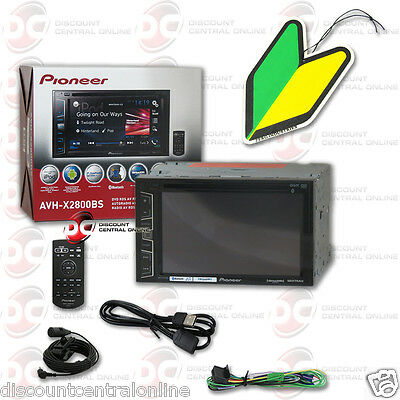 "Pioneer Avh-X2800Bs 6.2"" Touchscrern Dvd Stereo Bluetooth ""free"" Air Freshener"