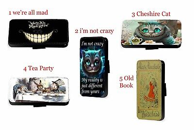 Alice in Wonderland Mad Hatter Cat leather phone case A3 A310F 2016 A5 A510F S7