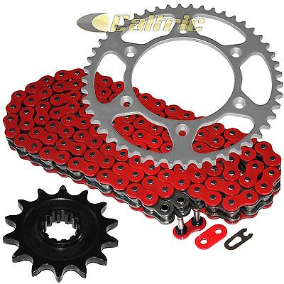 Red O-Ring Drive Chain & Sprocket Kit Fits HUSABERG FE400e 2000 2001 2002 2003