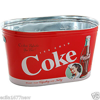 Coke Large Oval Tin Party Tub