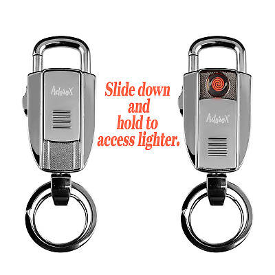 Fathers Day Gift Cigarette  Wind Resistant USB Portable Lighter Key Chain Ring