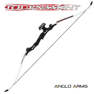 NEW ANGLO ARMS 40lb Tournament Archery Take Down Recurve Bow Set With 3 arrows *