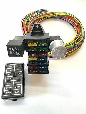 12 Circuit 14 Fuse Universal Street Rod Wiring Harness US MADE-HIGH QUALITY GXL