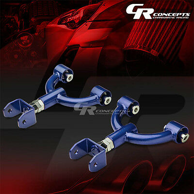 2Pc Adjustable Ss Rear Upper Camber Control Arm For 90-05 Miata Mx5 Na/nb Blue