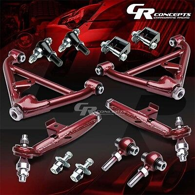 J2 For 89-98 Nissan 240Sx S13 S14/300Zx Z Red Lower Control Arm Suspension Kit