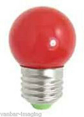 Safelight LED RED 620nm 0.5watt E27 ( 5 pack)