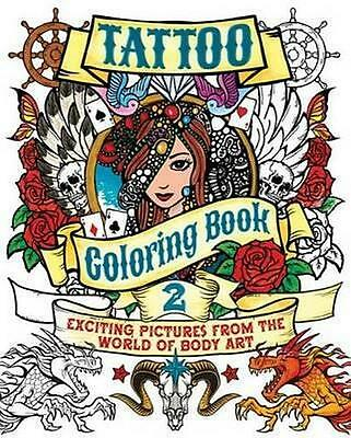NEW Tattoo Coloring, Book 2 By Patience Coster Paperback Free Shipping