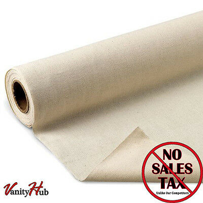 """NEW! Fine Arts Unprimed Cotton Canvas Roll, 6 yds x 62"""" - FREE SHIPPING"""