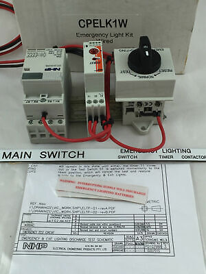 NHP Emergency Light Test Kit Rotary Switch Wired (Open type) CPELK1W